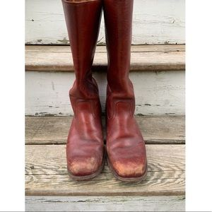 Red Frye boots